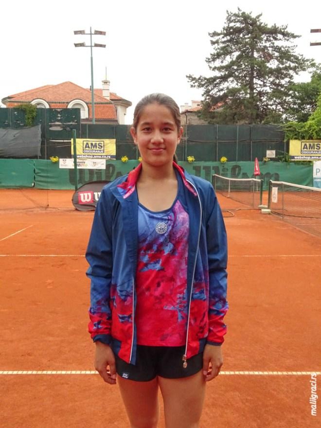 Saša Sakura Štula, Otvoreno prvenstvo Šida za devojke do 16 godina, Teniski klub Haron Beograd