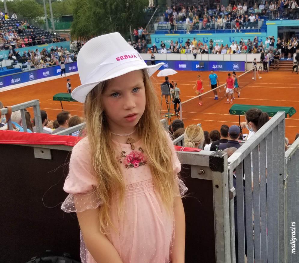 Mala teniserka Nikolina Pešić, Teniski klub Partizan Beograd