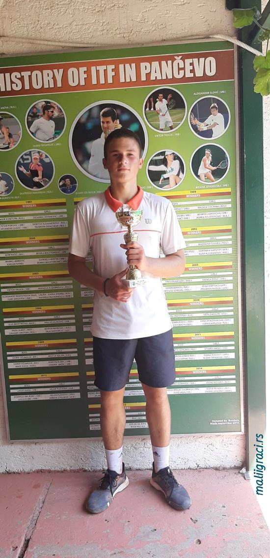 Nikola Jovanović, TSS TOUR TK Dinamo Pančevo do 18 godina, Teniski klub Dinamo Pančevo, Teniski savez Srbije