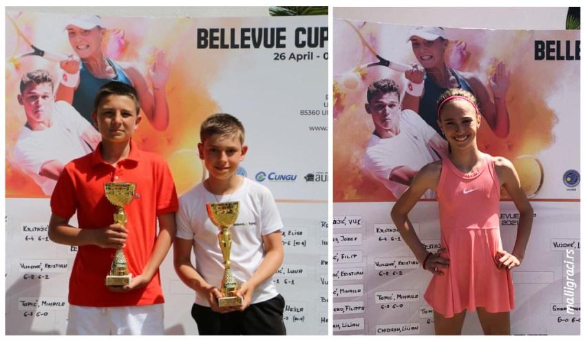 Mihailo Topić, Filip Đokić, Luna Vujović, Bellevue Cup 2021 U12 Ulcinj Crna Gora, Teniski klub Bellevue Ulcinj, Tennis Europe Junior Tour