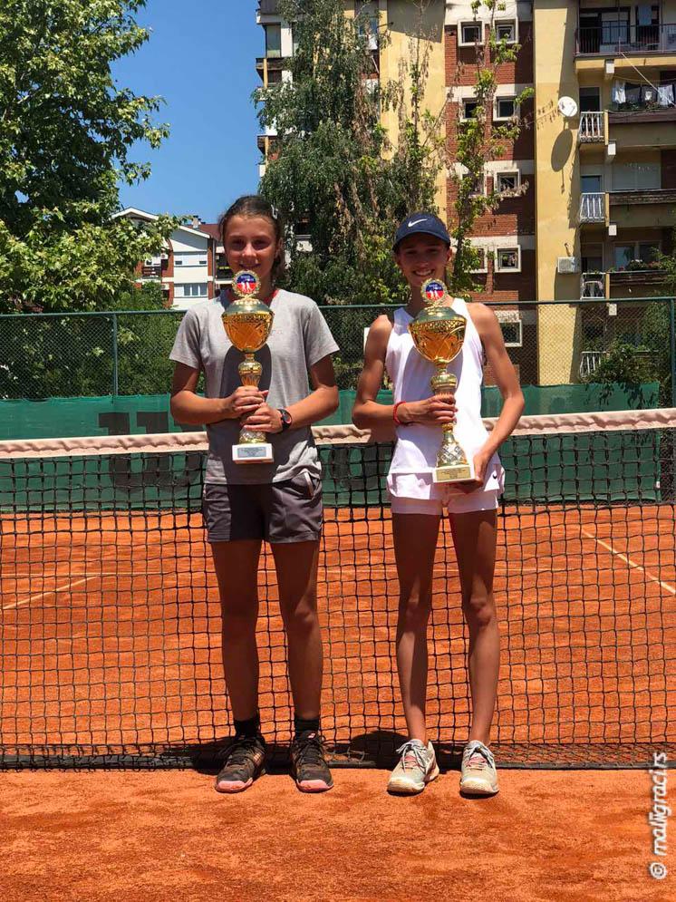 Dušica Popovski, Luna Vujović, TENNIS POINT OPEN 2021 U12, Teniski klub Tennis Point Čačak, Tennis Europe Junior Tour
