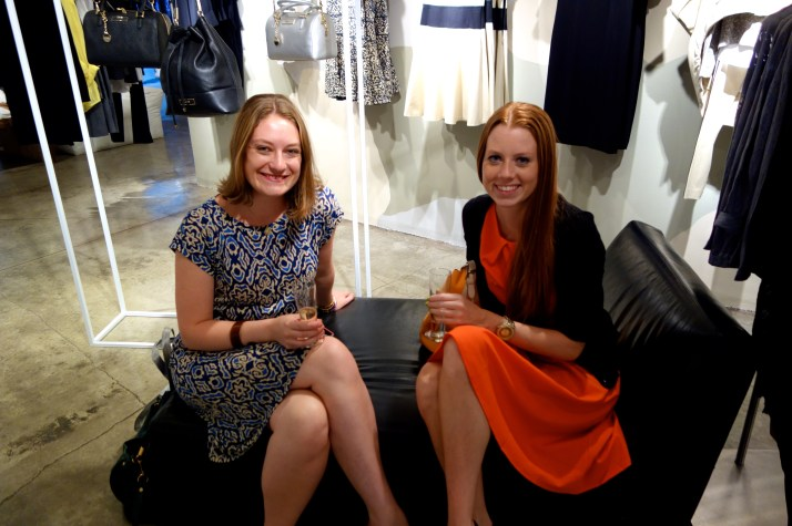 Abbe Wright and Terri Brummitt at DKNY Iris Smyles book signing_malindaknowlesnet