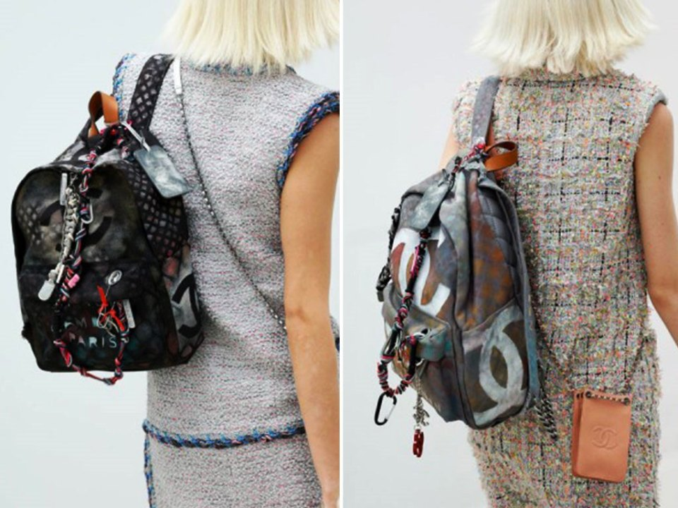 Chanel-Graffiti-Logo-Backpack-Spring-2014-Runway