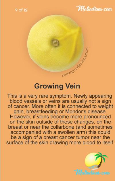 growing vein