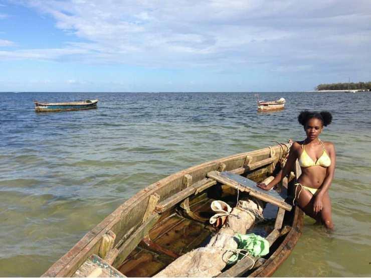 rocking a bikini while in malindi kenya pose with a dhow - How to look Good in a Bikini