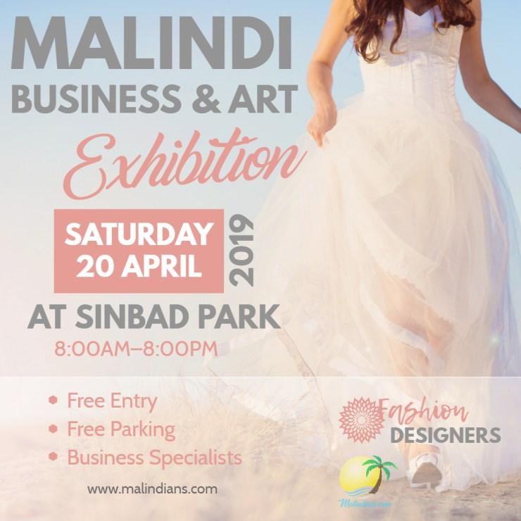 malindi business and art fashion design poster - Malindi Business & Art Exhibition