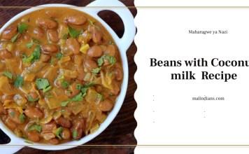 maharagwe ya nazi beans with coconut milk recipe - people of Malindi