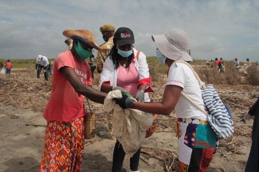 Clean-up taken to the River Sabaki Estuary