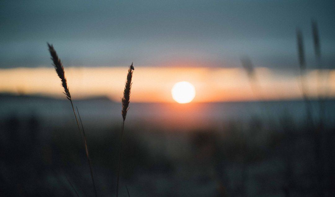 sunset galicia moody blurry