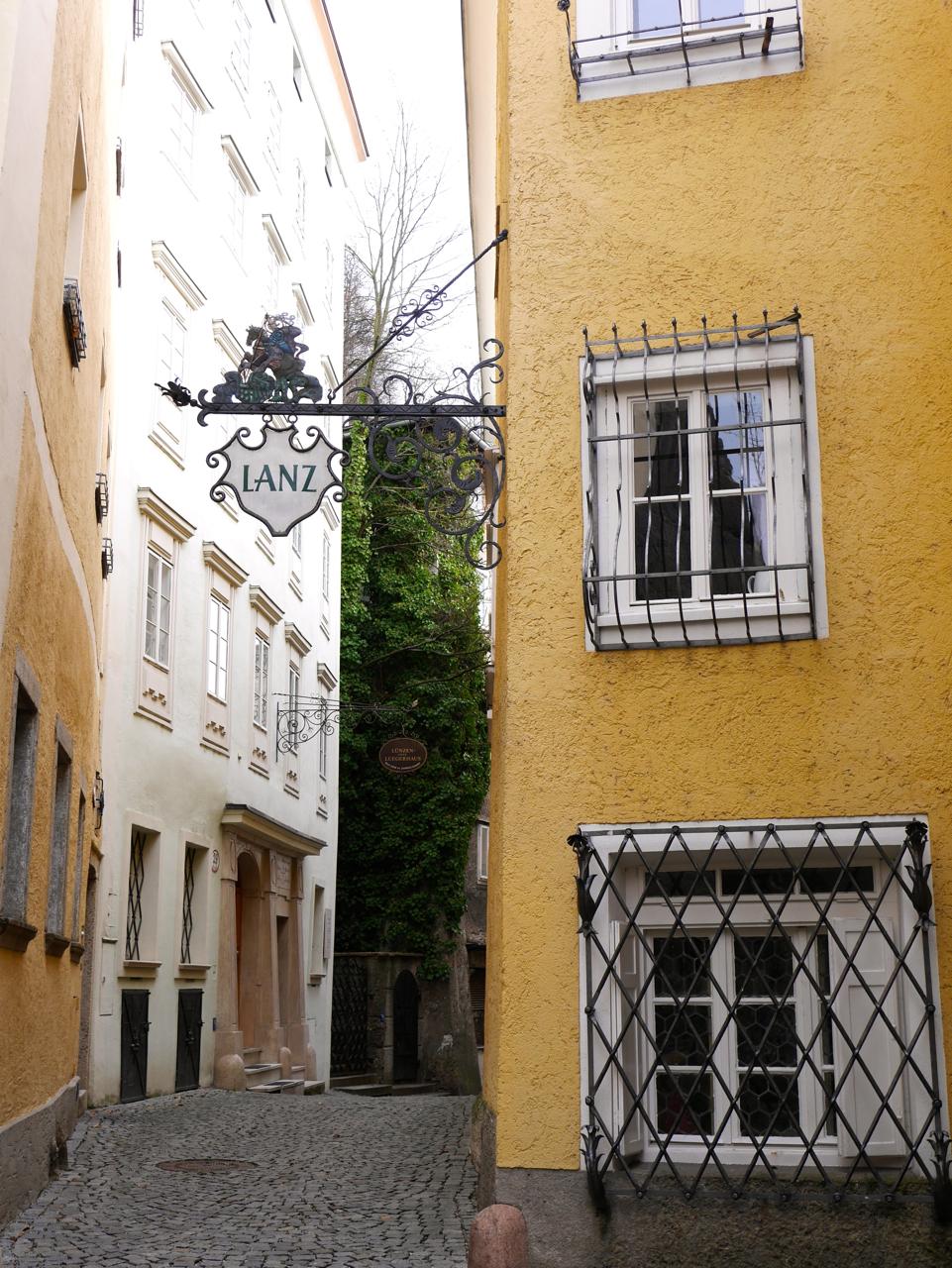 salzburg City Narrow Streets