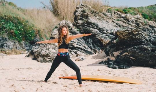 warrior yoga pose strong yogi
