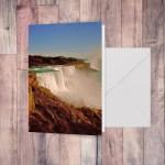 Notecard with art Majestic Niagara Falls by Malinee Ganahl