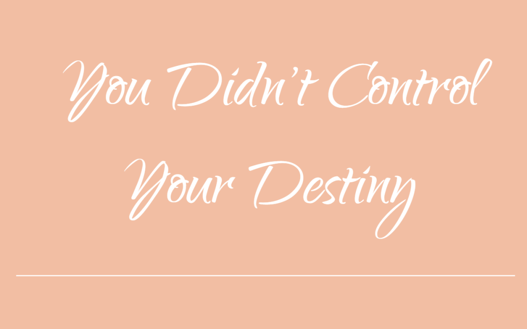You Didn't Control Your Destiny
