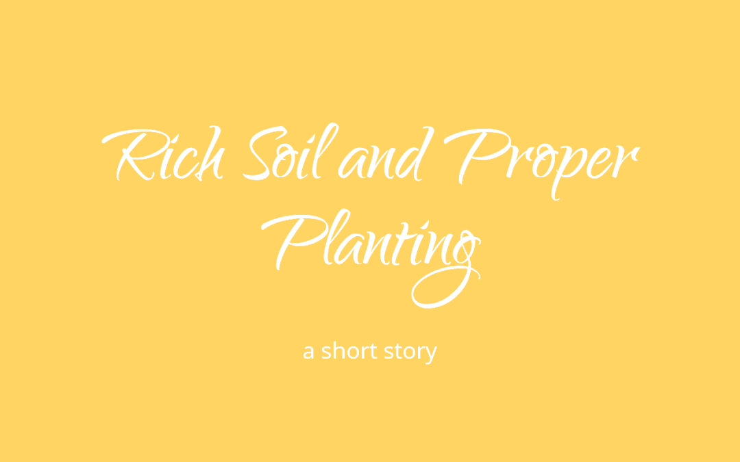 Rich Soil and Proper Planting