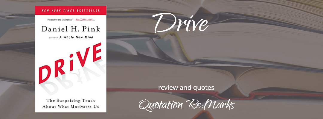 Drive: The Surprising Truth About What Motivates Us by Daniel Pink, a review