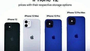 les différents models de iPhone 12 en image