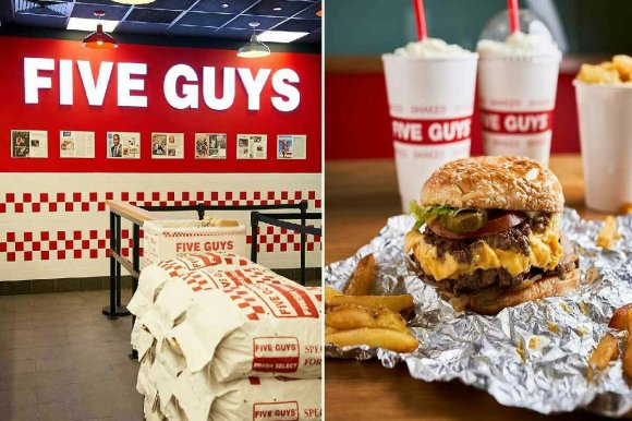 image d'un menu Five Guys