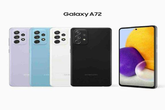 Image de Galaxy A72 en plusieurs couleurs disponibles au Maroc