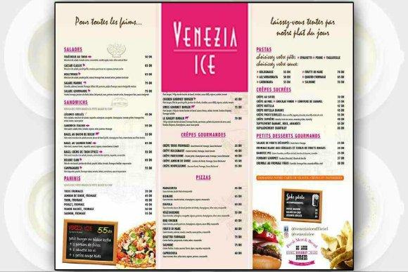 Carte des prix chez Venezia Ice