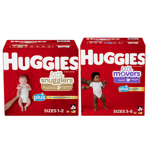 Huggies Plus Diapers Sizes 1 – 6