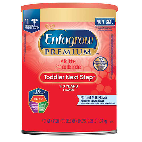 Enfagrow Premium Non-GMO Toddler Next Step Formula Stage 3, 36.6 oz