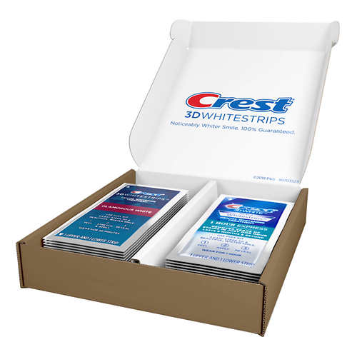Crest 3D White Glamorous White Whitestrips and Bonus 1hr Express Strips