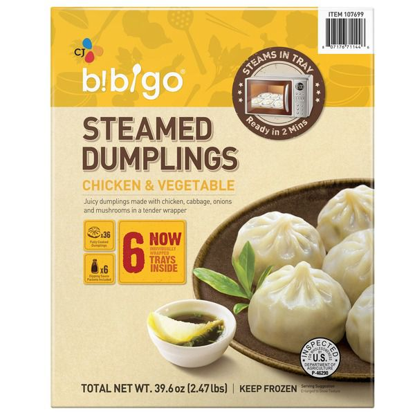 Bibigo Steamed Chicken & Veggie Dumpling,..
