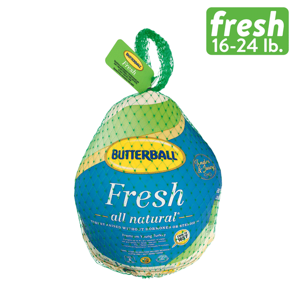 Butterball Fresh Turkey All Natural 16-24..