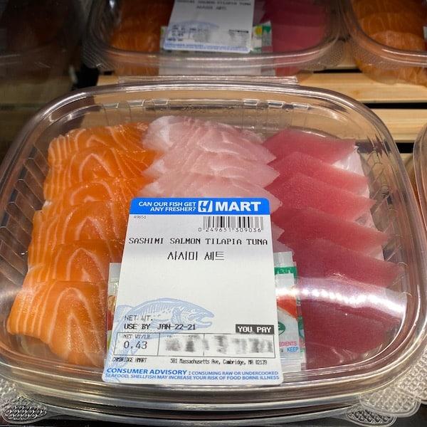Sashimi Salmon Tilapia Tuna Set 0.4-0.5lb/pk