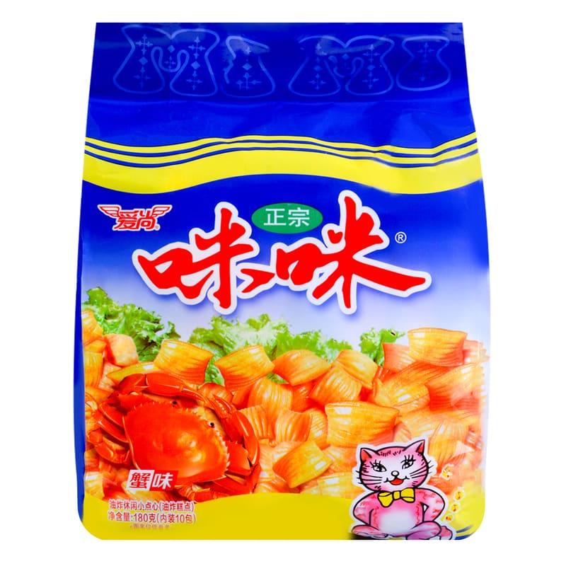 Mimi Crab Flavored Chips 爱尚咪咪蟹味粒 180g*2