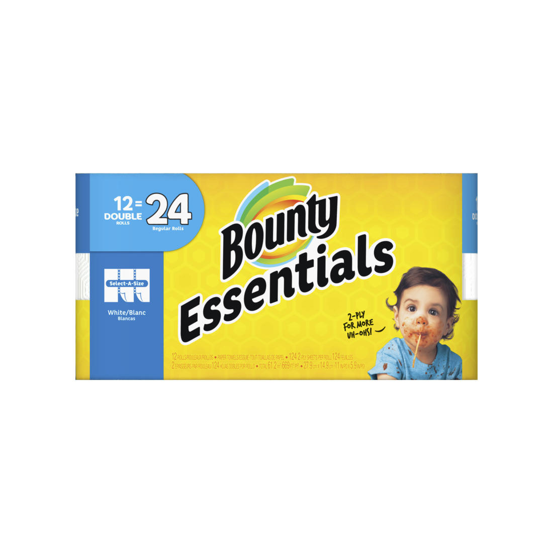 Bounty Essentials Select-A-Size Double Roll Paper..