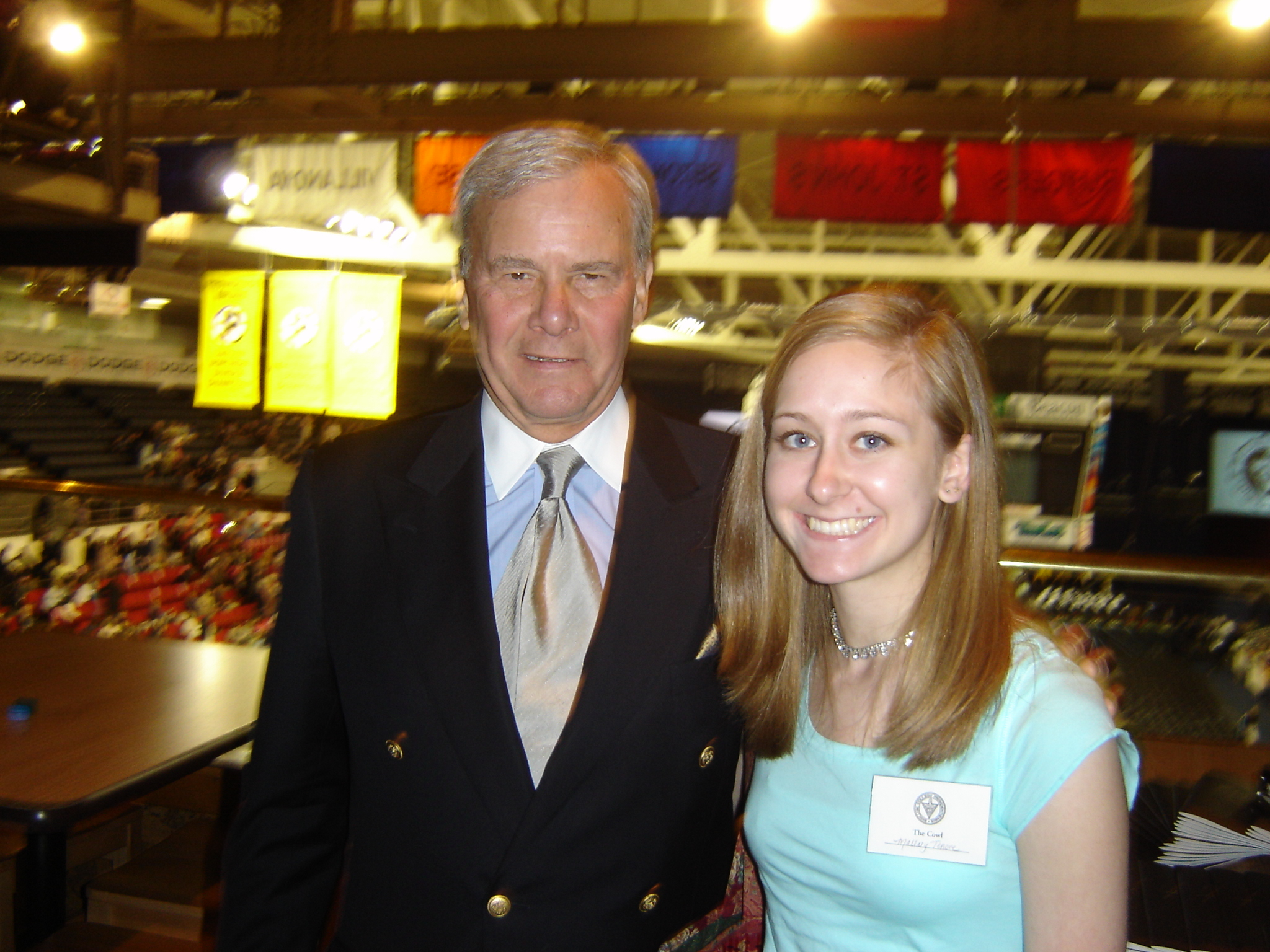 Just for fun, I'm posting this photo of me and Tom Brokaw. It was taken three years ago when Brokaw gave the commencement speech at my alma mater, Providence College.
