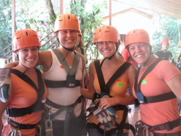 """Just before doing a canopy tour and zip-lining in Monteverde. Seeing as I'm afraid of heights, I was a little worried about the canopy tours, which include a Tarzan Swing, a 50-foot rappel and a """"Superman"""" zip-line. Ended up loving it. Soared 263 feet above a forest canopy and said goodbye to fear."""