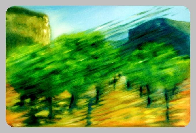 Oliven 2, 2014, 40 x 60 cm, Öl auf Leinwand