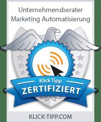 Wir sind Klick-Tipp Zertifiziert