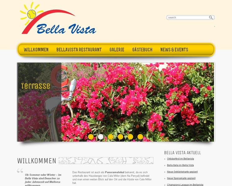 Restaurant BellavistaErstellung / Gestaltung > Websitewww.bellavista-restaurant.com