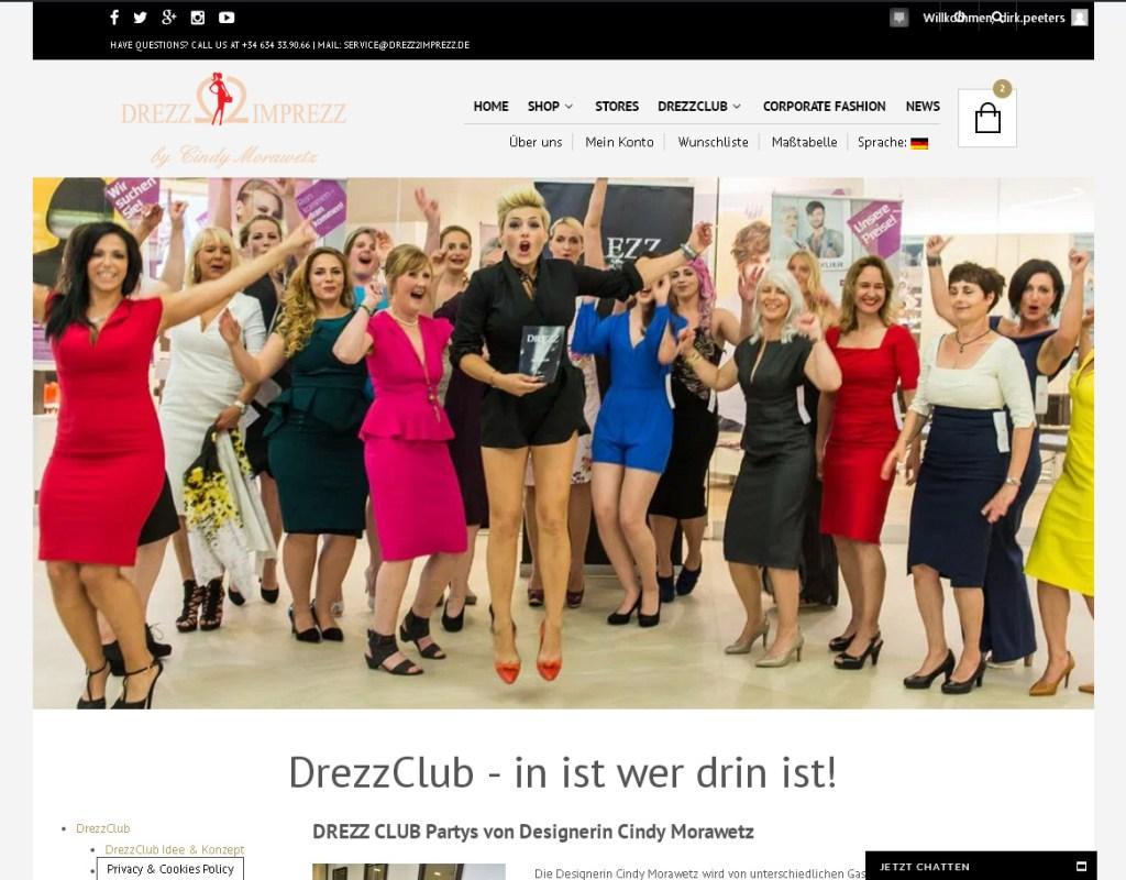 DrezzClub Programmierung, Grafik, Layout: Website www.drezzclub.com