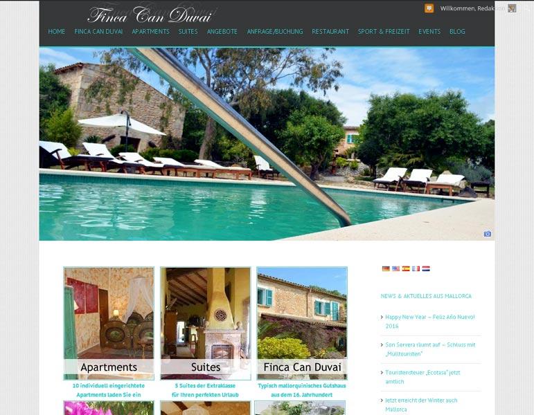 Finca Can Duvai Erstellung / Gestaltung > Websitewww.finca-canduvai.com