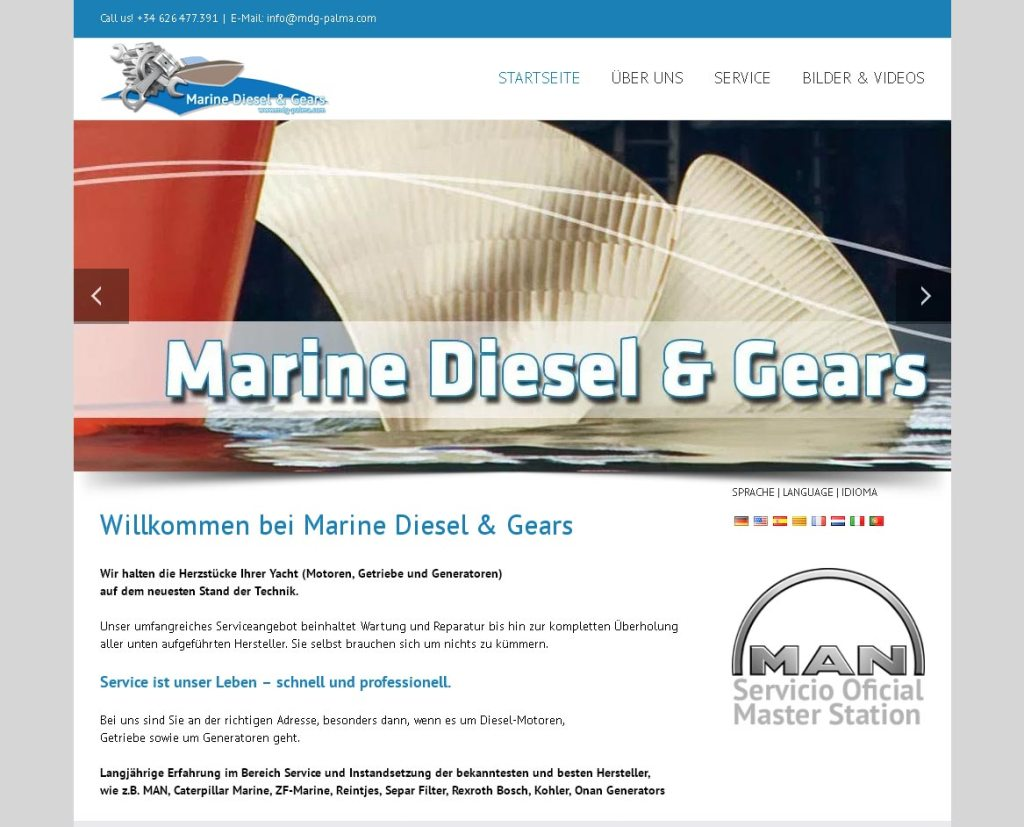 MDG PalmaEntwicklung der CI, Grafik & Layout für Online & Printwww.mdg-palma.com