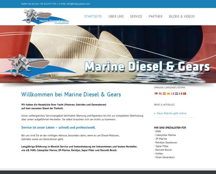 Marine Diesel & GearsGestaltung / Layout > Websitewww.mardieg.com