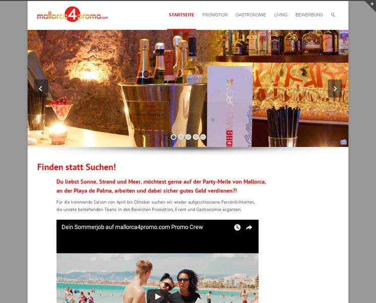mallorca4promo.comErstellung / Gestaltung > Websitewww.mallorca4promo.com