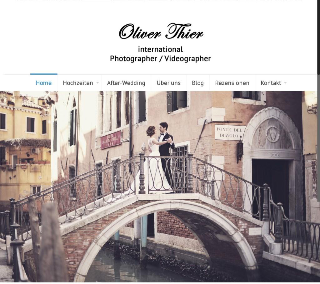 Oliver Thier Photography Programmierung, Grafik, Layout: Website www.fotograf-vendig.com