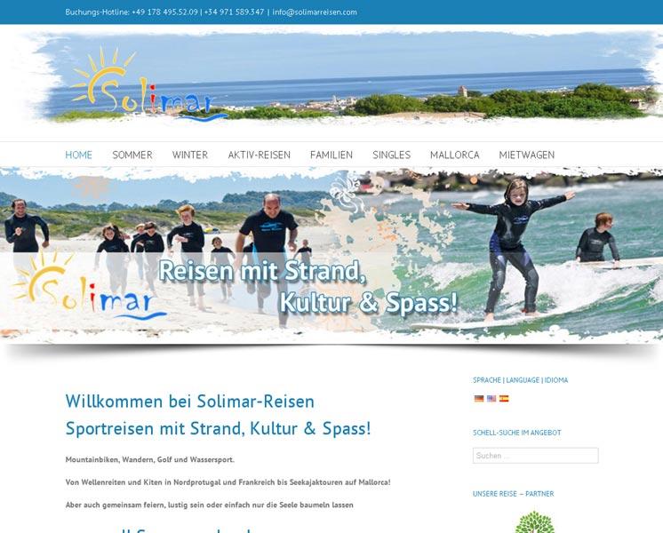 Solimar ReisenLayout > Programmierung > Websitewww.solimarreisen.com