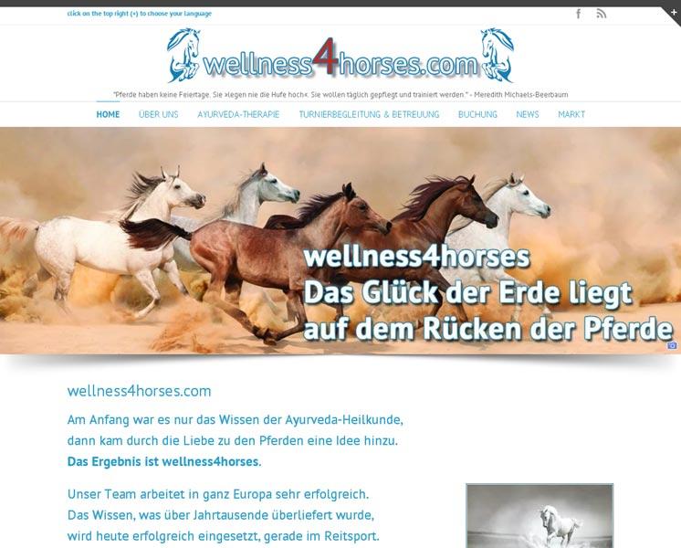wellness4horses.comErstellung / Gestaltung > Websitewww.wellness4horses.com