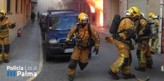 Los Bomberos y Policía Local actuaron de inmediato