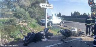 Motoristas heridos en la carretera de Sineu