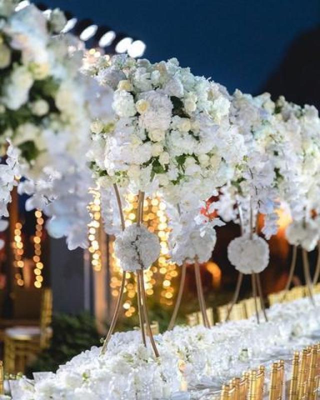 Detalle de la mesa donde los novios agasajaron a sus invitados