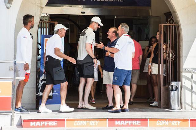 S.M. el Rey Felipe VI a su llegada al RCNP (Foto: Laura G. Guerra/Copa del Rey MAPFRE)