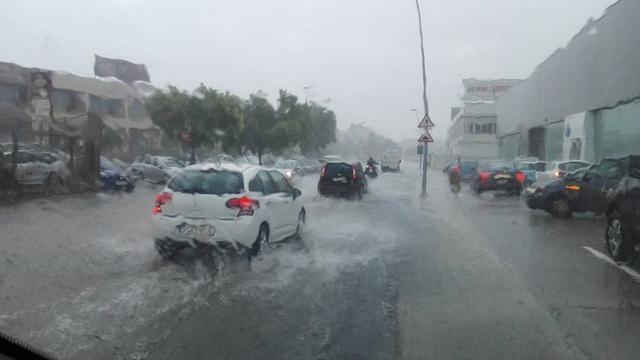 La primera gran tormenta de agosto (Foto: Twitter Francisco Seguí)