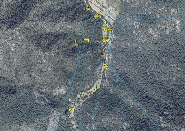 Mapa con las zonas afectadas (Foto: IBANAT)